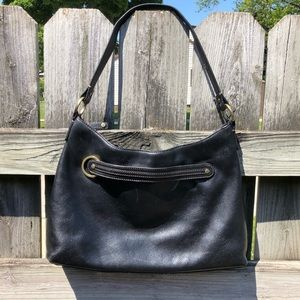 Cole Haan Black Leather Purse Handbag